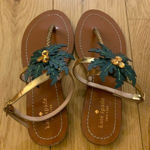 Kate Spade Solana Palm Tree Vacation Sandals